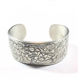 English Salisbury Pewter March Cuff Bracelet
